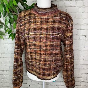 Vintage Lord & Taylor Mock Neck Wool Sweater Med